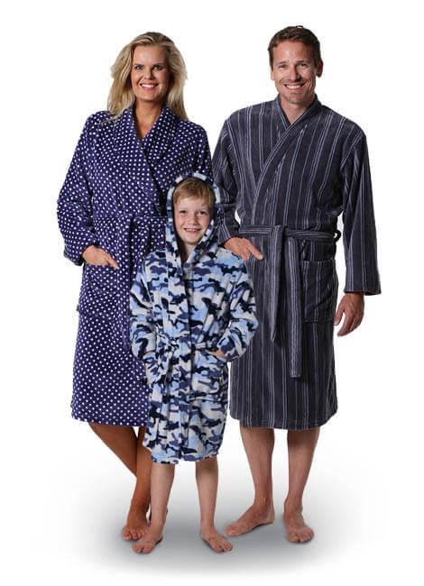 badjassen man vrouw kind textiel
